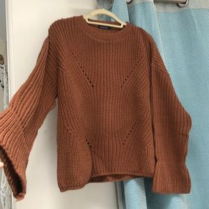 Boohoo burnt orange/brown sweater